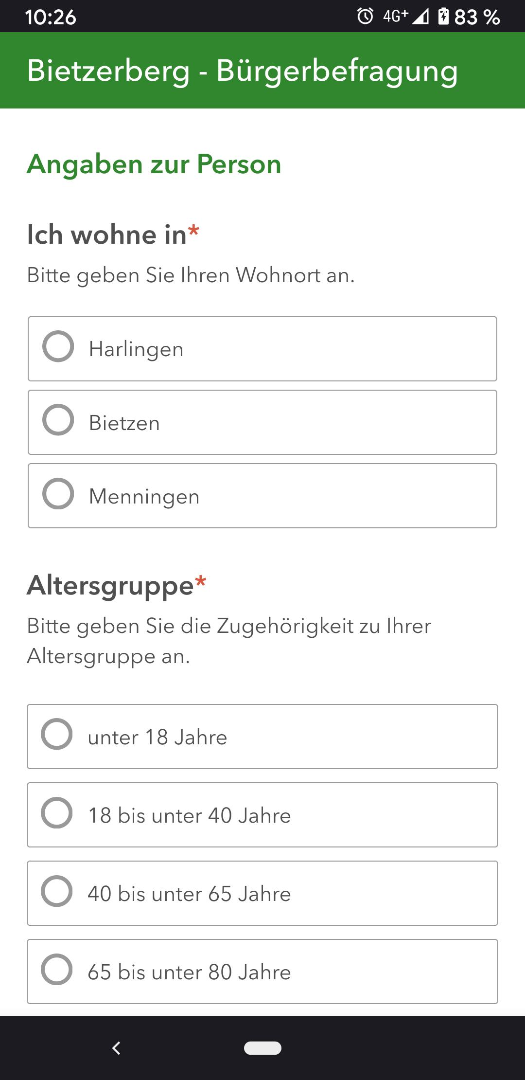 Online-Bürgerfragebogen